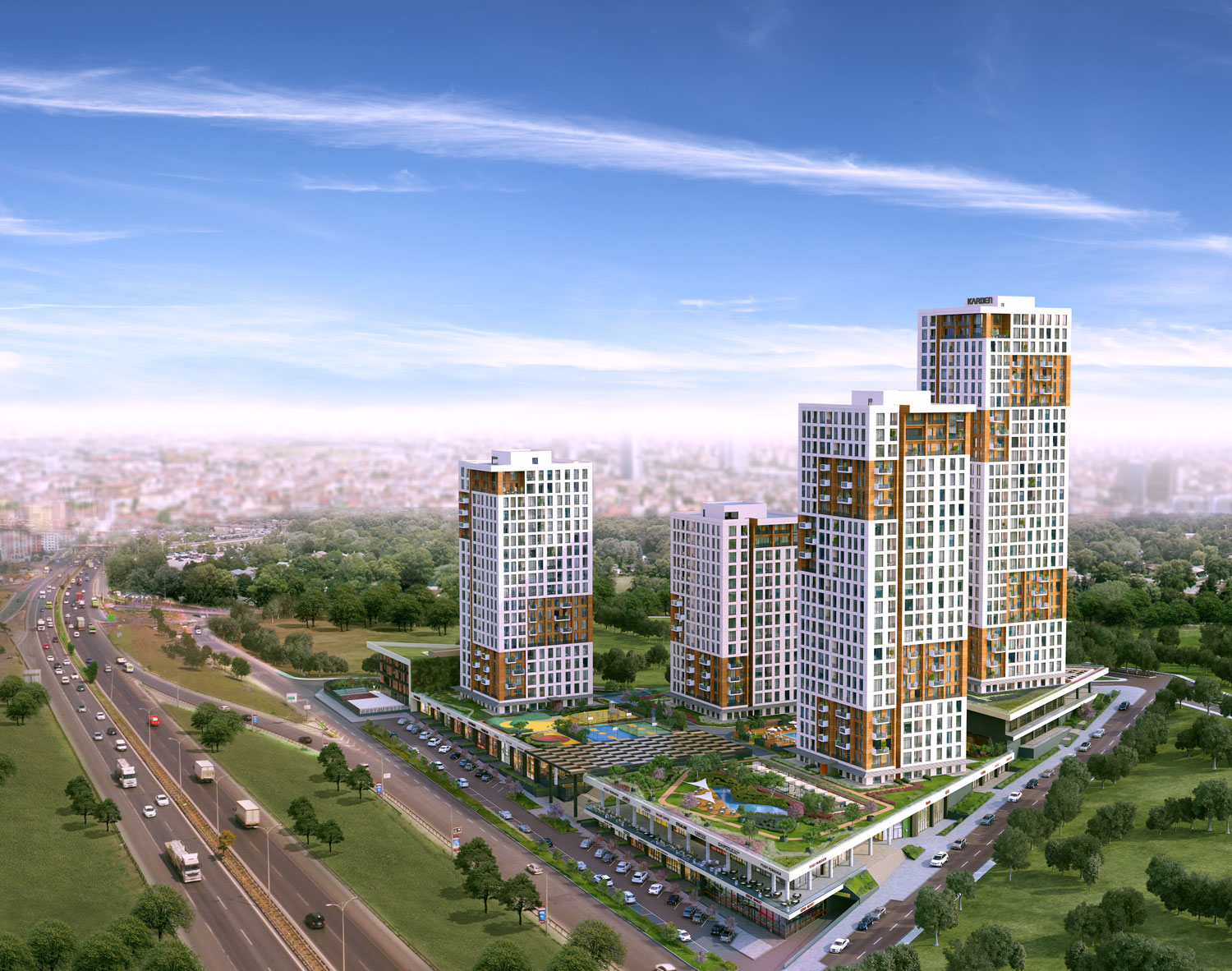 A huge family project near the metrobus in European Istanbul
